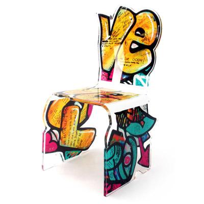 street art chair acrila furnitures. Black Bedroom Furniture Sets. Home Design Ideas