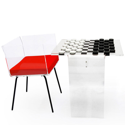 table jeu de dames acrila furnitures. Black Bedroom Furniture Sets. Home Design Ideas