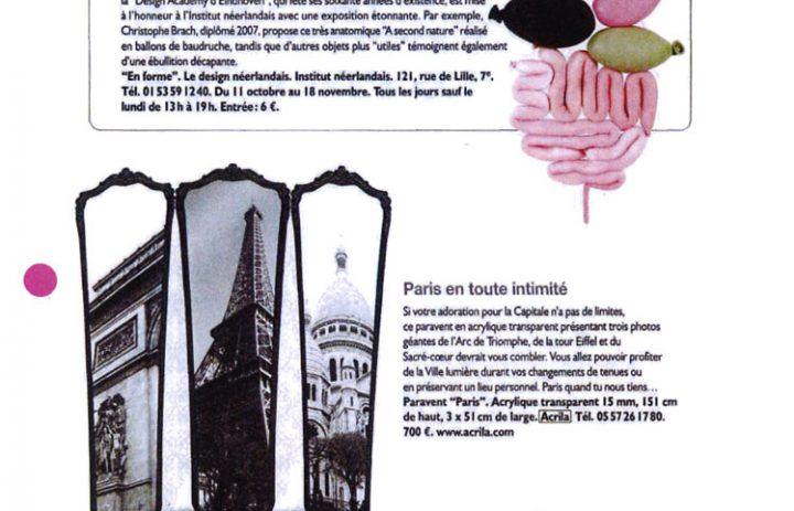 Presse acrila paris octobre 2007