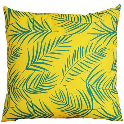 71 coussin jaune palmier 40x40