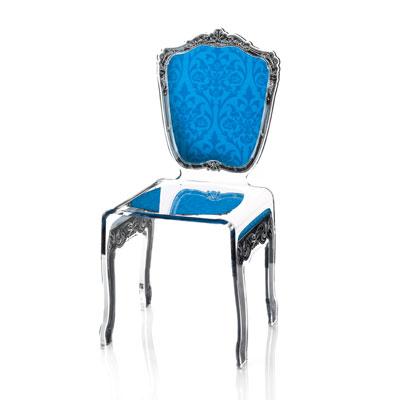 ACRILA_Baroque_chaise bleue