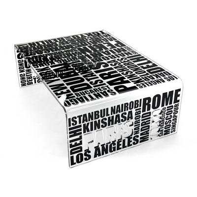 table basse city acrila. Black Bedroom Furniture Sets. Home Design Ideas