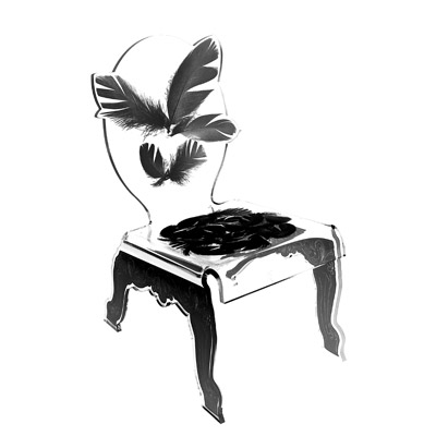 chaise basse plume acrila. Black Bedroom Furniture Sets. Home Design Ideas
