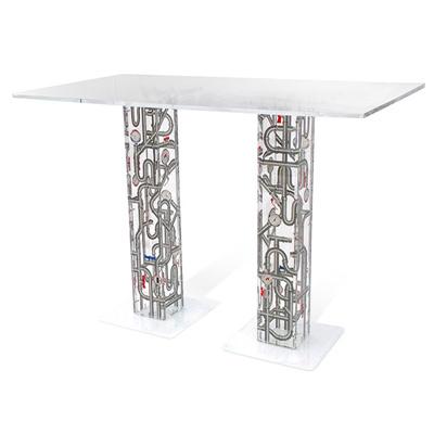 table indus acrila. Black Bedroom Furniture Sets. Home Design Ideas